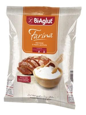 Biaglut Farina Pane Paste Lievitate Senza Glutine 1 kg