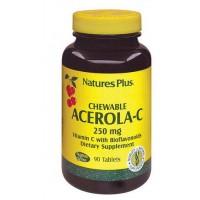 Nature's Plus Acerola C 90 Tavolette 250 mg - Integratore Vitaminico