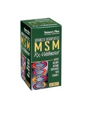 Nature's Plus Msm con Vitamian C 60 Tavolette - Integratore Tonico e Ricostituente