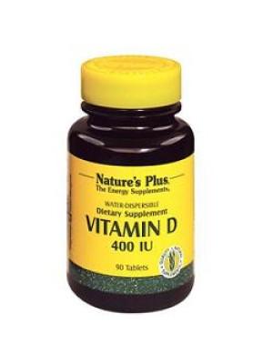 Nature's Plus Vitamina D 400 U.I. 90 Tavolette Idrosolubili - Integratore Alimentare