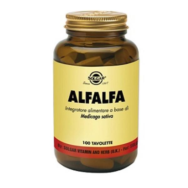 Solgar Alfalfa 100 Tavolette - Integratore Multivitaminico Minerale con Medicago Sativa