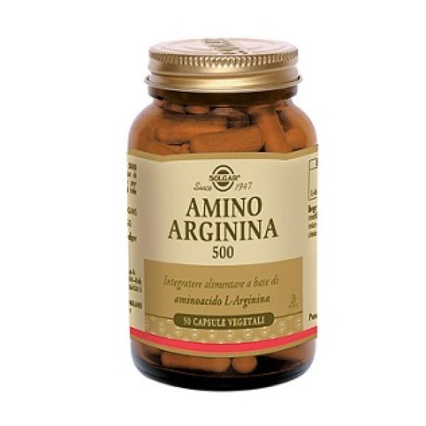 Solgar Amino Arginina 500  50 Capsule Vegetali - Integratore con L-Arginina