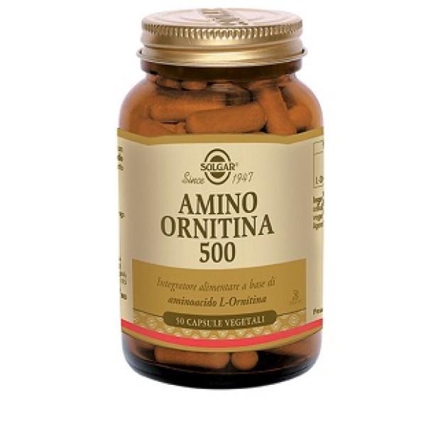 Solgar Amino Ornitina 500  50 Capsule Vegetali - Integratore Depurativo