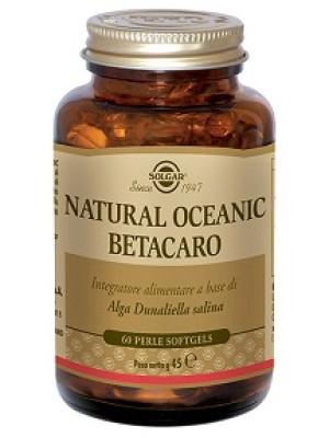 Solgar Natural Oceanic Betacarotene 60 Perle - Integratore Carotenoidi