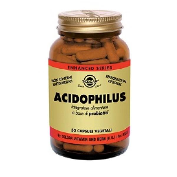 Solgar Acidophilus 50 Capsule Integratore Probiotico
