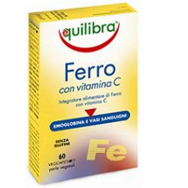 Equilibra Ferro e Vitamina C 60 Perle - Integratore Sostegno e Vitalita'
