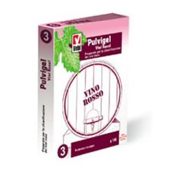 Pulvigel Vino Rosso in Scatola 100 grammi - Chiarificante per Uso Enologico