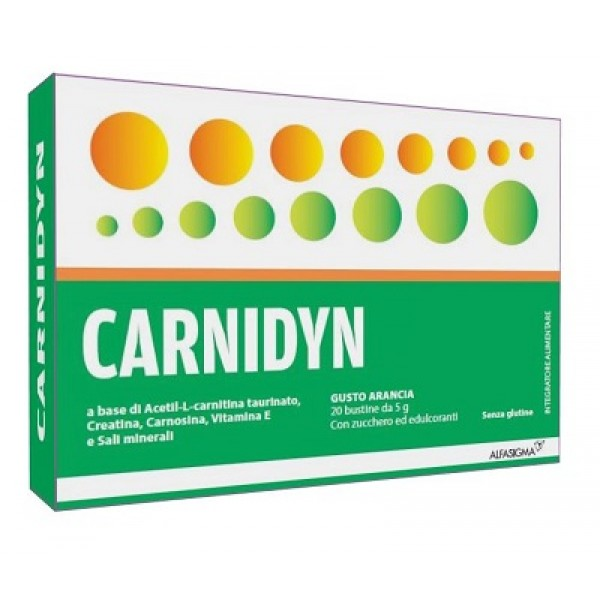 Carnidyn Integratore Energizzante 20 Bustine