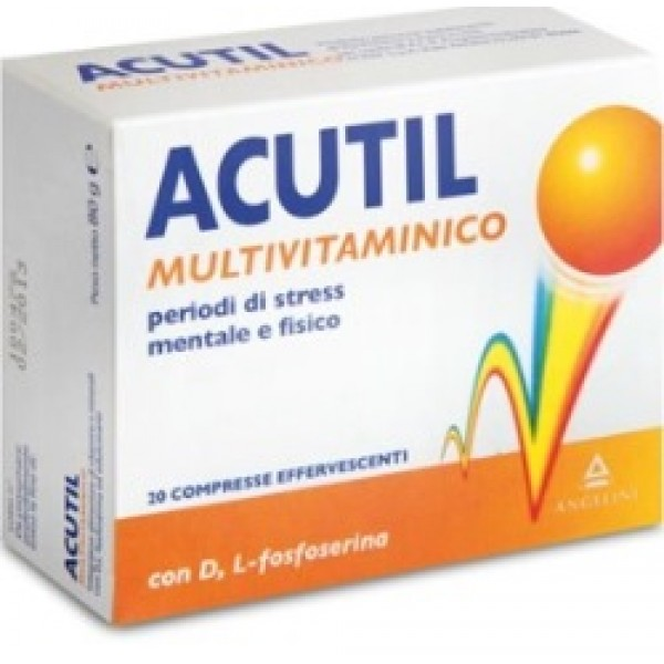 Acutil Multivitaminico Integratore Alimentare 20 Compresse Effervescenti