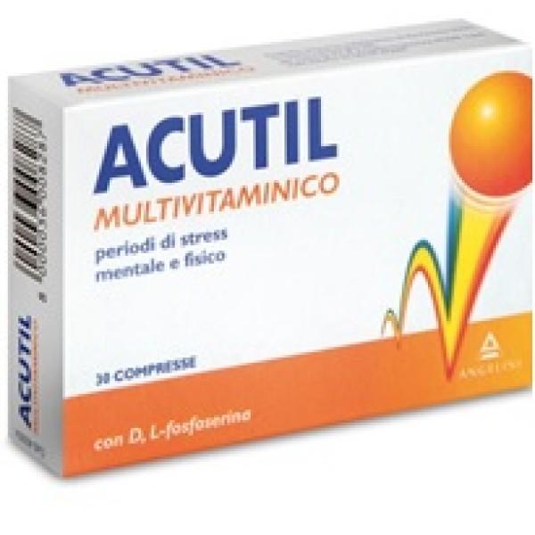 Acutil Multivitaminico Integratore Alimentare 30 Compresse
