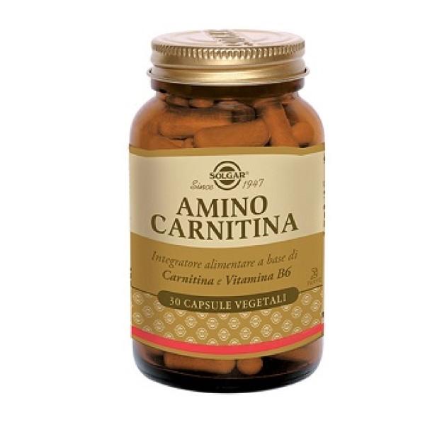 Solgar Amino Carnitina 30 Capsule - Integratore Aminoacidi e Vitamine