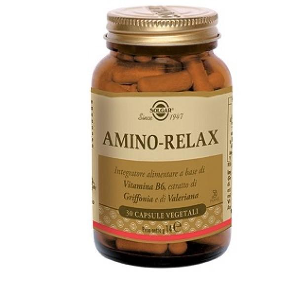 Solgar Amino Relax Integratore Rilassante 30 Capsule