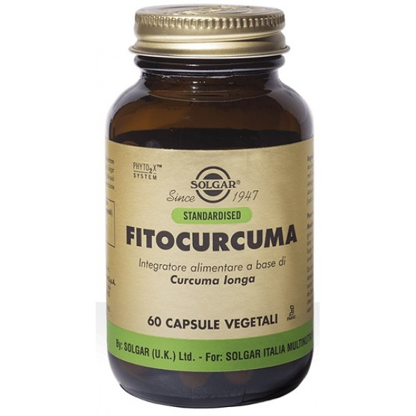 Solgar Fitocurcuma 60 Capsule - Integratore Benessere Intestinale