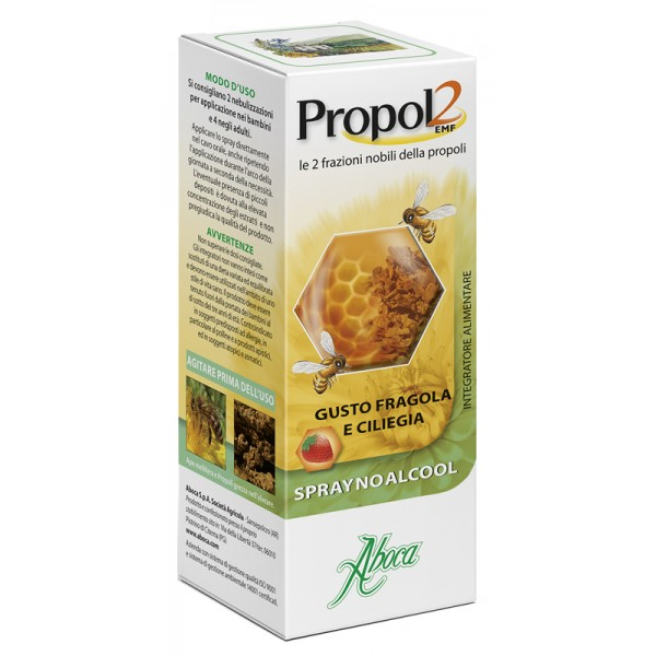 Aboca Propol2 EMF Spray No Alcool 30 ml - Integratore Gola Infiammata
