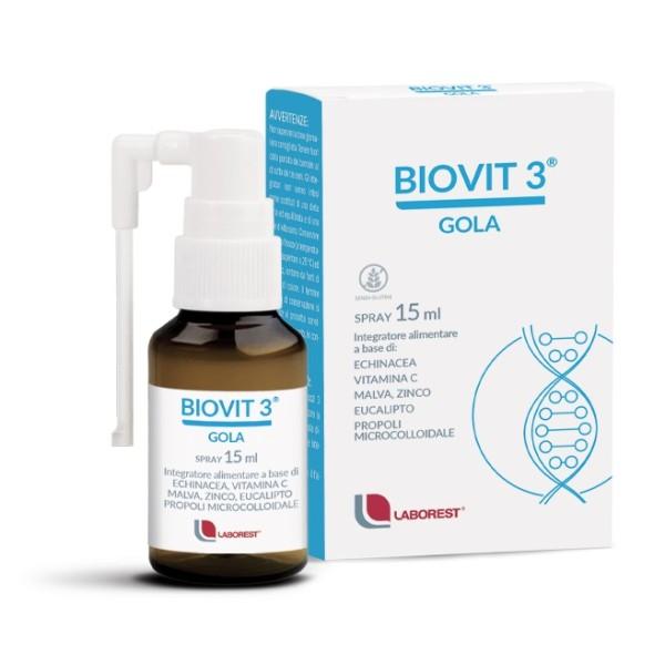 Biovit 3 Gola Spray Orale 15 ml - Integratore per Bambini