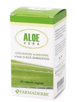 Farmaderbe Aloe Vera 60 Capsule - Integratore Vitamine Minerali