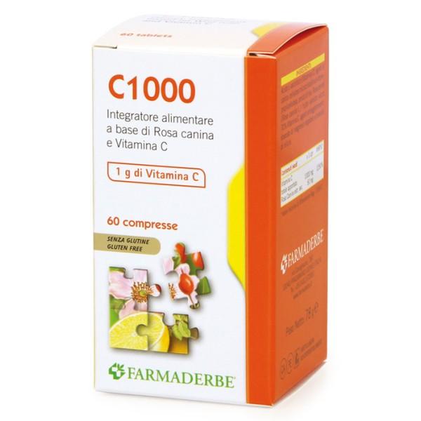 Farmaderbe Nutra Line C 1000 60 Compresse - Integratore Sistema Immunitario