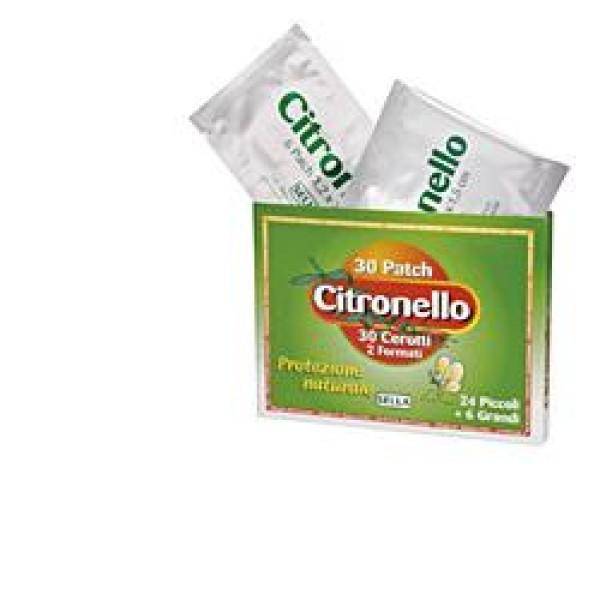 Citronello Cerotti Antizanzare Naturali 30 Pezzi
