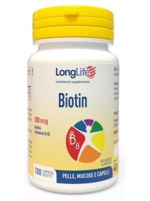 Longlife Biotin 300  100 Compresse - Integratore Pelle