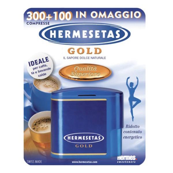 Hermesetas Gold Edulcolante da Tavola 300 + 100 Compresse