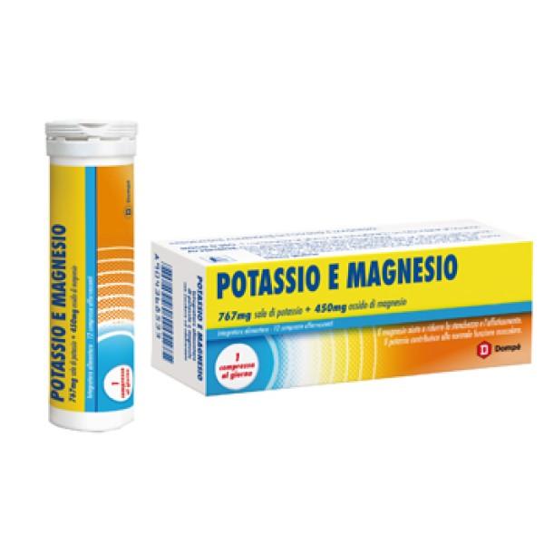 Potassio e Magnesio Bracco Integratore Sali Minerali 12 Compresse Effervescenti