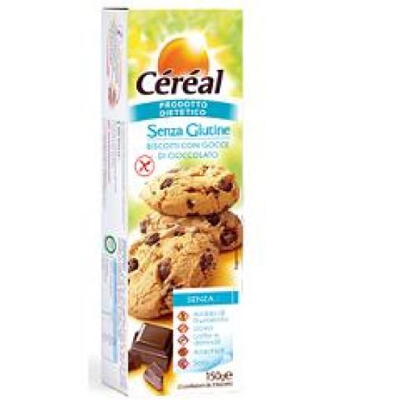 Cereal Biscotti con Gocce di Cioccolato Senza Glutine 150 grammi