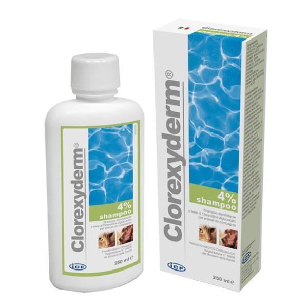 Clorexyderm Shampoo 4% Disinfettante Cani e Gatti 250 ml