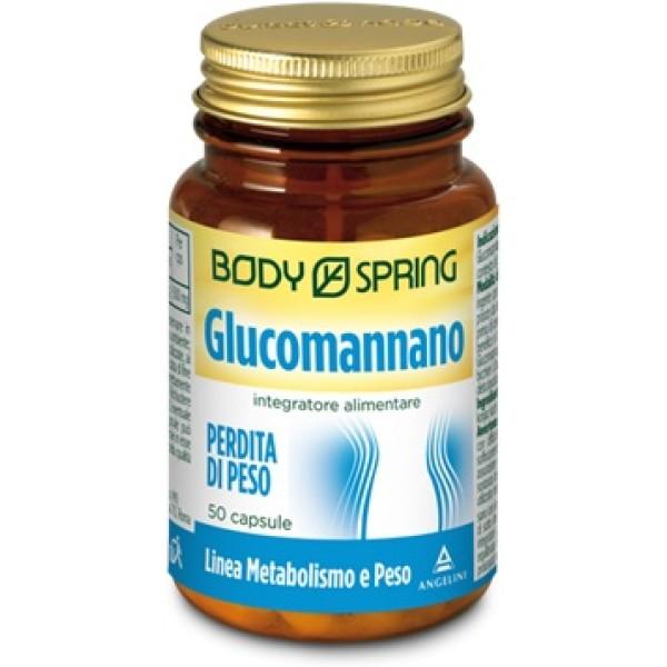 Body Spring Glucomannano Integratore Alimentare 50 Capsule
