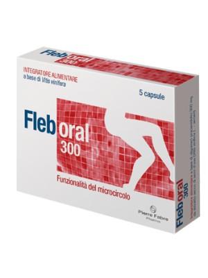 Fleboral 300 mg 5 Capsule - Integratore Microcircolo