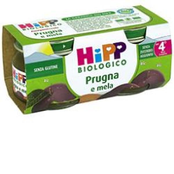 Hipp Bio Omogeneizzato Prugna e Mela 2 x 80 grammi