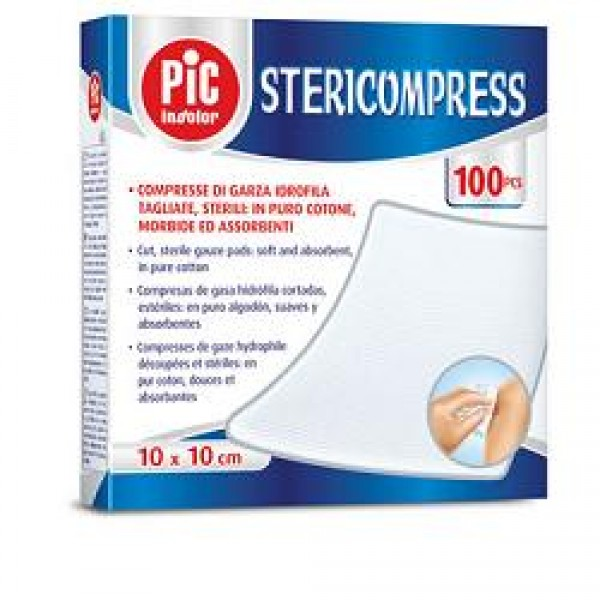 Pic Stericompress Compresse di Garza 10 x 10 cm Sterili 25 pezzi