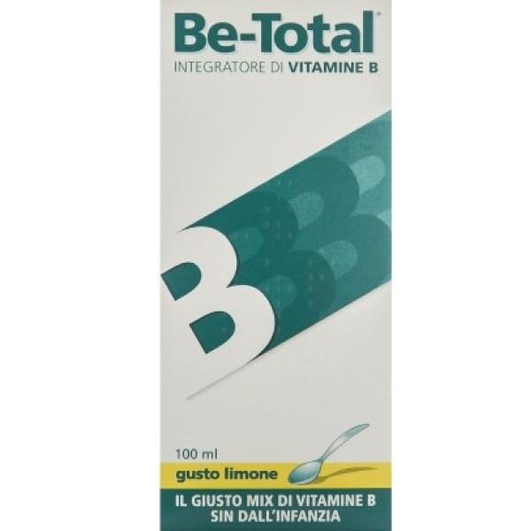 Be-Total Sciroppo Gusto Limone Integratore di Vitamina B 100 ml