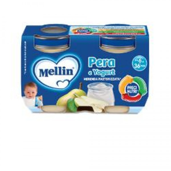 Mellin Merenda Yogurt Pera 2 x 120 grammi