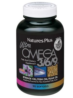 Nature's Plus Ultra Omega 3-6-9  90 Capsule - Integratore di Acidi Grassi