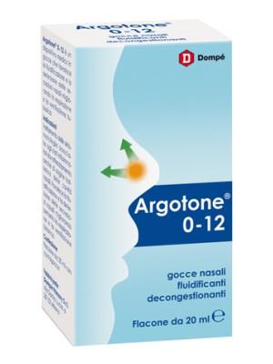 Argotone 0-12 Gocce Nasali Fluidificanti 20 ml