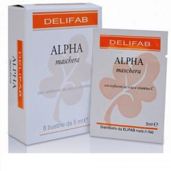 Delifab Alpha Maschera Viso Pelle Seborroica a Tendenza Acneica 8 Bustine