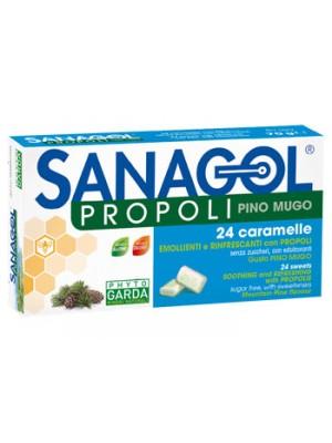 Sanagol Propoli 24 Caramelle Gusto Pino Mugo Senza Zucchero