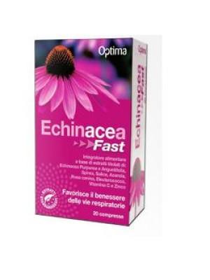 Optima Echinacea Fast 20 Compresse - Integratore Benessere Vie Respiratorie