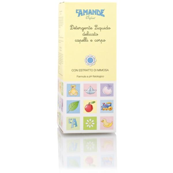 L'Amande Enfant Detergente Liquido Delicato Bambini Corpo e Capelli 250 ml