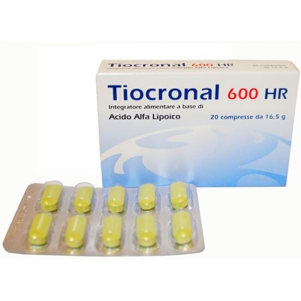 Tiocronal 600 HR 20 Compresse - Integratore Antiossidante