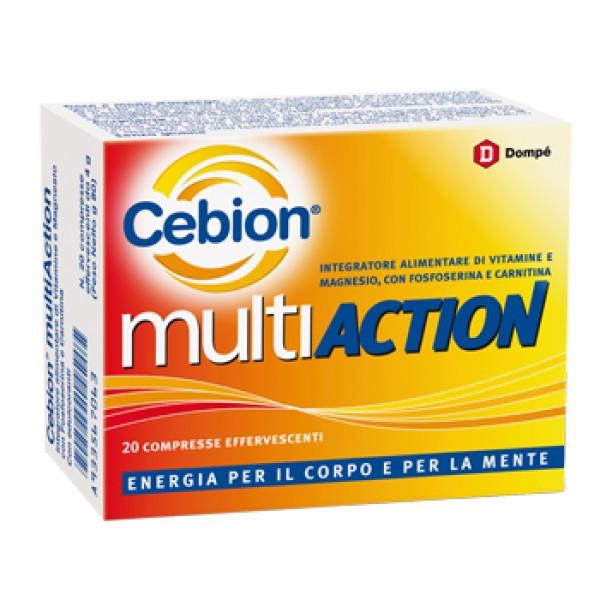 Cebion Multiaction Integratore Vitaminico 20 Compresse Effarvescenti