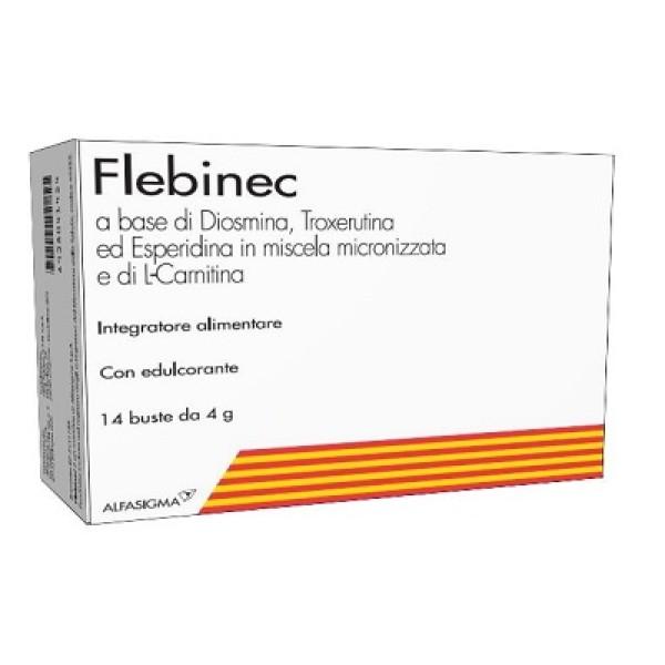 Flebinec Integratore Alimentare Tono Venoso Drenaggio Linfatico 14 Buste