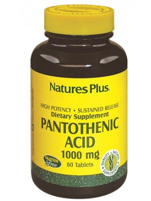 Nature's Plus Acido Pantotenico 60 Tavolette - Integratore Alimentare