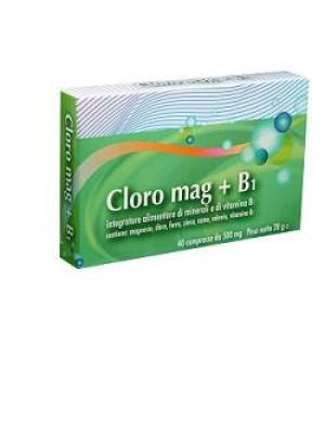Cloro Mag + B1 Integratore di Magnesio 40 Compresse