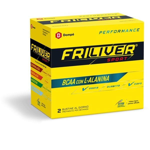 Friliver Sport Performance Integratore Aminoacidi Ramificati con L-Alanina 24 Buste