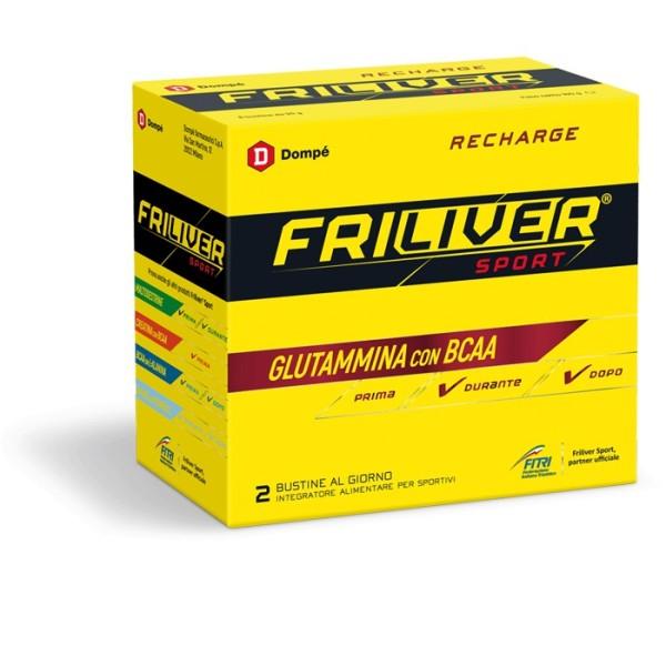 Friliver Sport Recharge Integratore di Glutammina con BCAA 8 Buste
