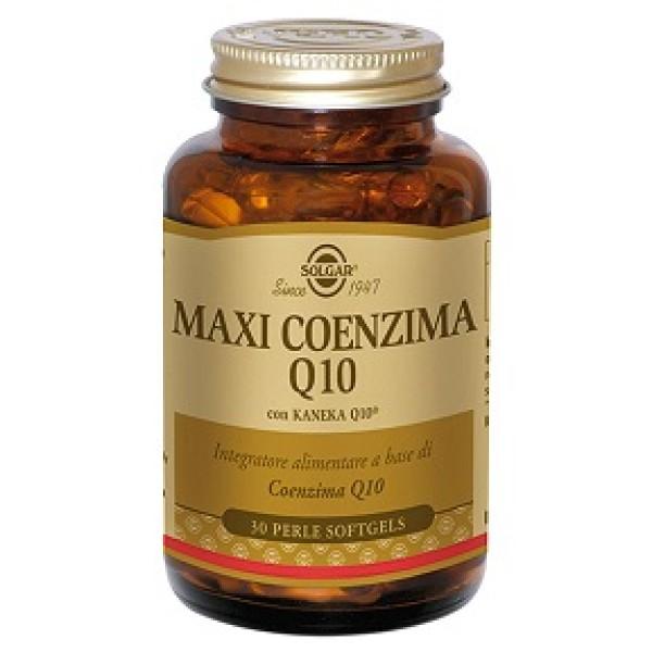 Solgar MaxiCoenzima Q10  30 Perle - Integratore Antiossidante 30 Perle Softgel