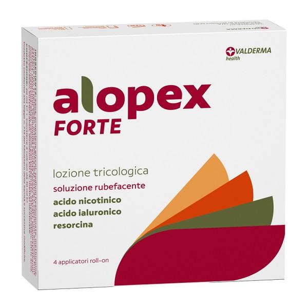 Alopex Forte Lozione Tricologica Alopecia Barba Capelli 4 x 10 ml