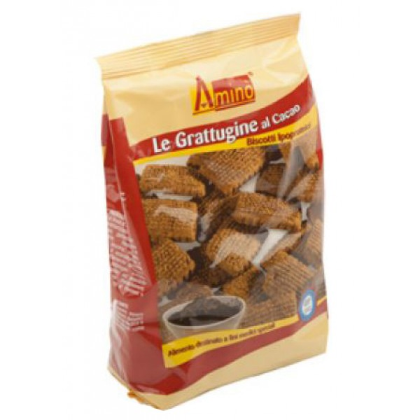 Amino' Le Grattugine al Cacao Biscotti Ipoproteici 200 grammi