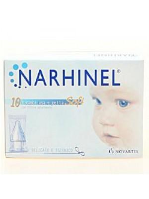 Narhinel 10 Ricariche Usa e Getta Soft Aspiratore Nasale